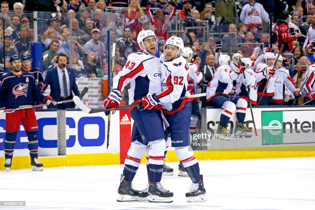Washington Capitals v Columbus Blue Jackets - Game Four : News Photo