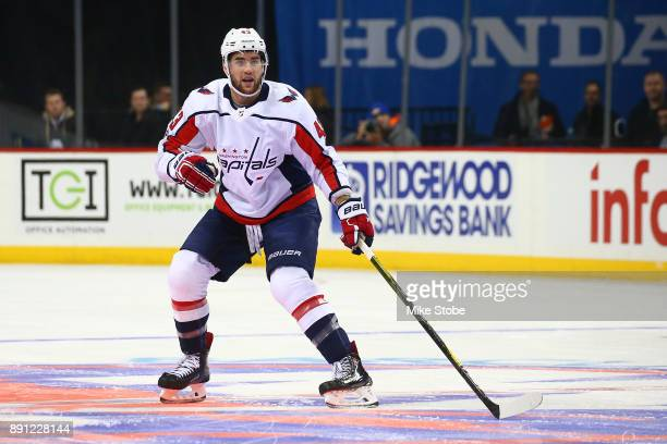 Tom Wilson of the Washington Capitals skates against the New York Islanders at Barclays Center on December 11 2017 in New York City New York...