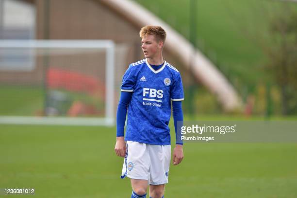 Tom Wilson-Brown of Leicester City U18s during the Leicester City v Arsenal: U18 Premier League match at Seagrave on October 23, 2021 in Seagrave,...