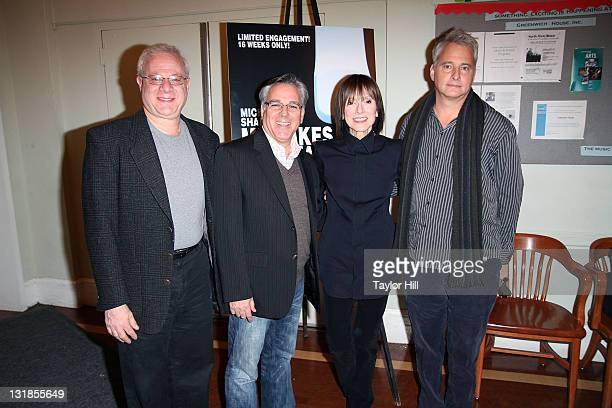 Tom Wirtshafter Craig Saavedra Jean Doumanian and Scott Morfee attend the Off Broadway opening night of 'Mistakes Were Made' at the Barrow Street...
