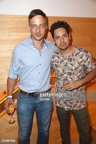 Tom Wlaschiha and Cesar Ramos attend the PantaFlix Party on February 17, 2016 in Berlin, Germany.