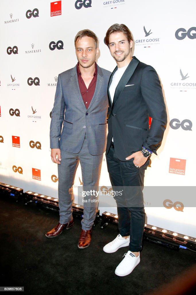 Tom Wlaschiha and Florian Molzahn attend the GQ Mension Style Party 2017 at Austernbank on July 5, 2017 in Berlin, Germany.