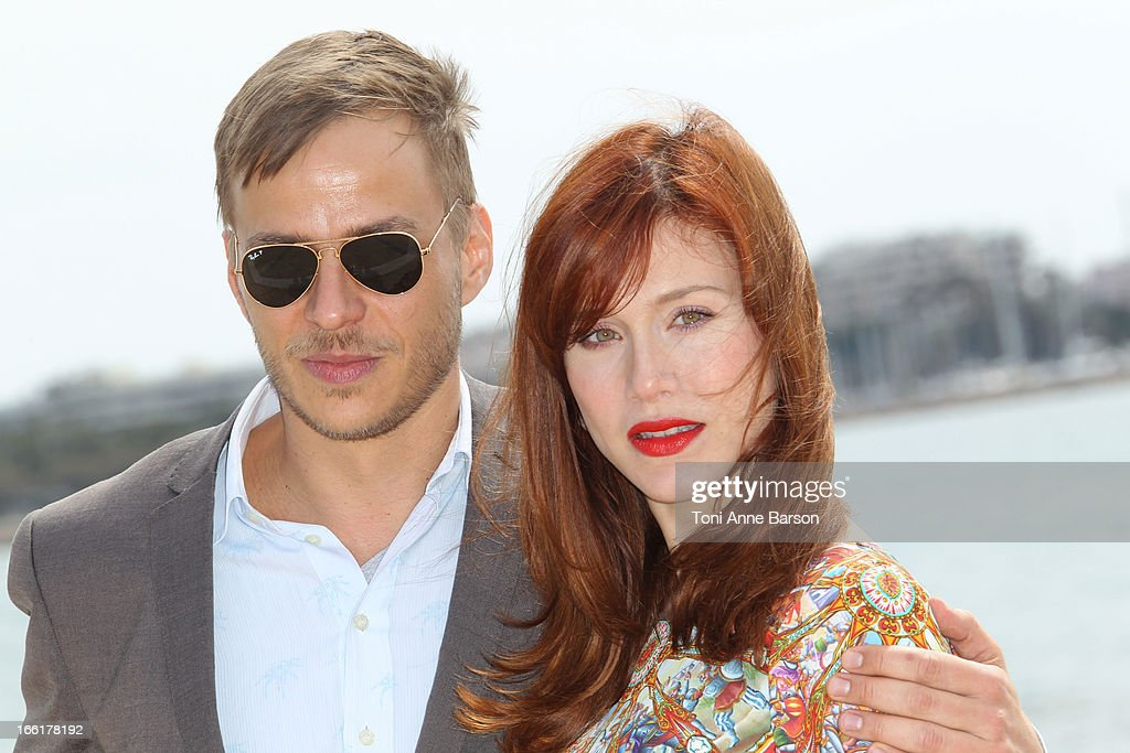 Tom Wlaschiha and Gabriella Pession attend 'Crossing Lines' Photocall during MIPTV 2013 on April 9, 2013 in Cannes, France.