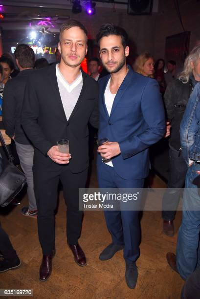 Tom Wlaschiha and Karim Guenes attend the Pantaflix Party At The 67th Berlinale International Film Festival on February 13, 2017 in Berlin, Germany.