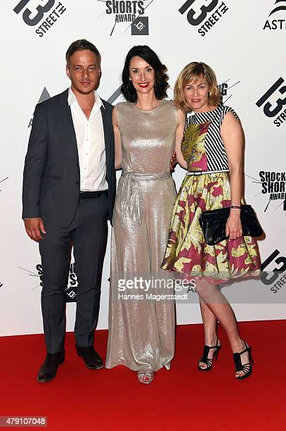 Tom Wlaschiha Katharina Behrends and Gesine Cukrowski attend the Shocking Shorts Award 2015 during the Munich Film Festival on June 30 2015 in Munich...