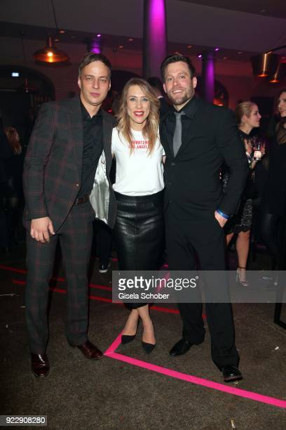 Tom Wlaschiha Ken Duken and his wife Marisa Leonie Bach during the BUNTE BMW Festival Night 2018 on the occasion of the 68th Berlinale International...