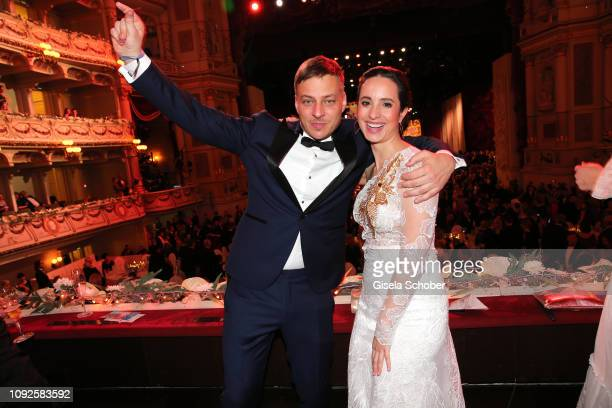 Tom Wlaschiha, Stephanie Stumph during the Semper Opera Ball 2019 at Semperoper on February 1, 2019 in Dresden, Germany.