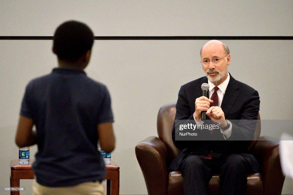 Rendell Center Governor Candidates Forum in Philadelphia : News Photo