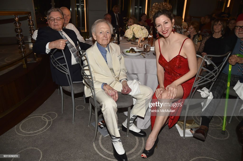 Tom Wolfe and Iris Smyles attend the Guild Hall's 33rd Annual Academy of the Arts Awards at The Rainbow Room on March 5, 2018 in New York City.