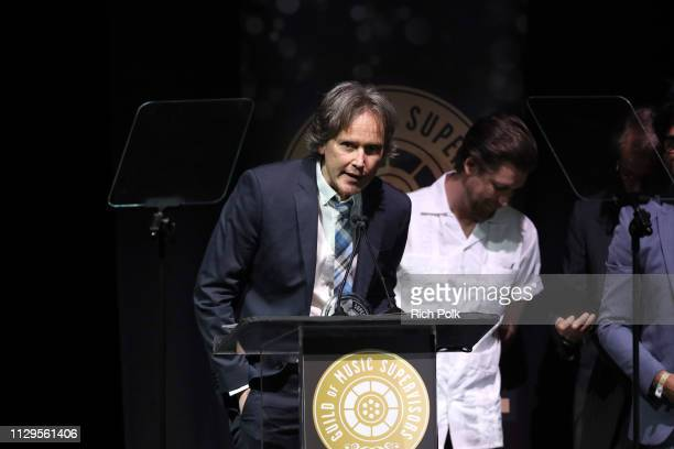 Tom Wolfe winner of Best Music Supervision for Film Budgeted Under 25 Million for 'Green Book speaks onstage during the 9th Annual Guild of Music...
