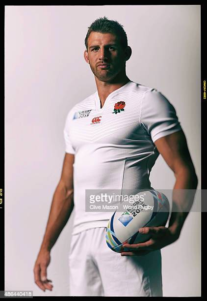 Tom Wood of England is pictured during a team photocall at Pennyhill Park on August 2 2015 in Bagshot England