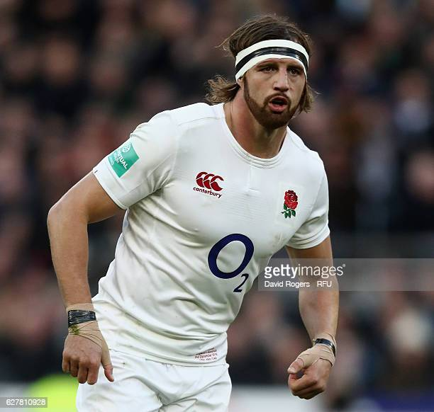 Tom Wood of England looks on during the Old Mutual Wealth Series match between England and Australia at Twickenham Stadium on December 3 2016 in...