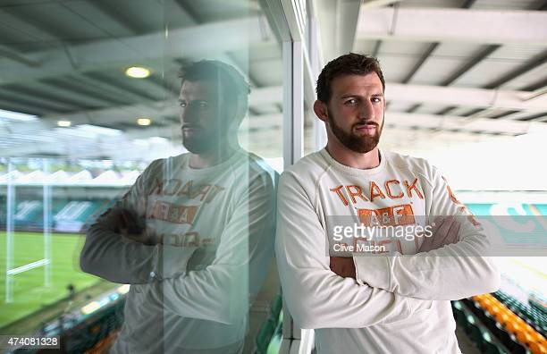 Tom Wood of Northampton Saints is pictured during a media session at Northampton Saints on May 20 2015 in Northampton England