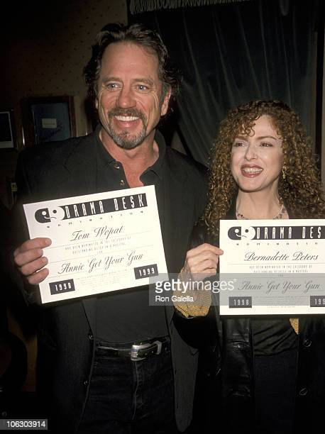 Tom Wopat and Bernadette Peters during 44th Annual Drama Desk Awards Nominations at New York Friars Club in New York City New York United States