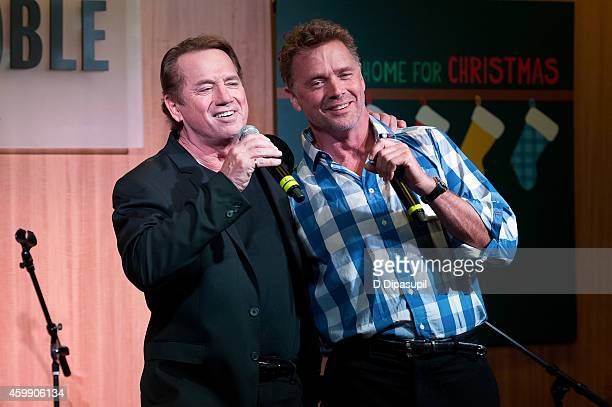 Tom Wopat and John Schneider perform onstage while promoting their CD 'Home For Christmas' at Barnes Noble 86th Lexington on December 3 2014 in New...