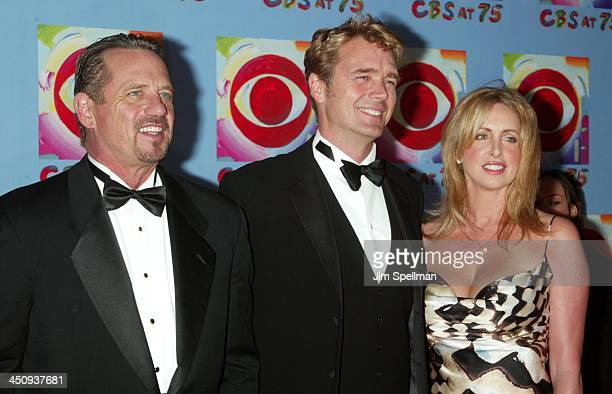 Tom Wopat John Schneider and wife Elly Castle during CBS at 75 at Hammerstein Ballroom in New York City New York United States