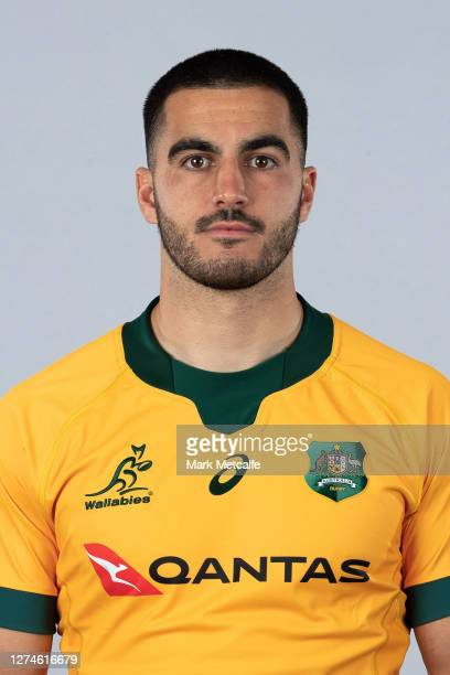 Tom Wright poses during the Australian Wallabies rugby team headshots session at the Crowne Plaza on September 21 2020 in the Hunter Valley Australia