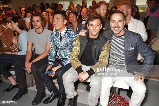 Tom York Hu Bing Tom Daley and David Furnish attend the Christopher Raeburn show during the London Fashion Week Men's June 2017 collections on June...