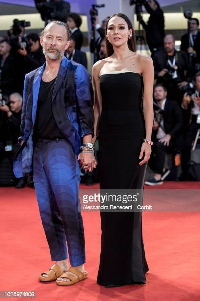 Tom Yorke and Dajana Roncione walk the red carpet ahead of the 'Suspiria' screening during the 75th Venice Film Festival at Sala Grande on September...