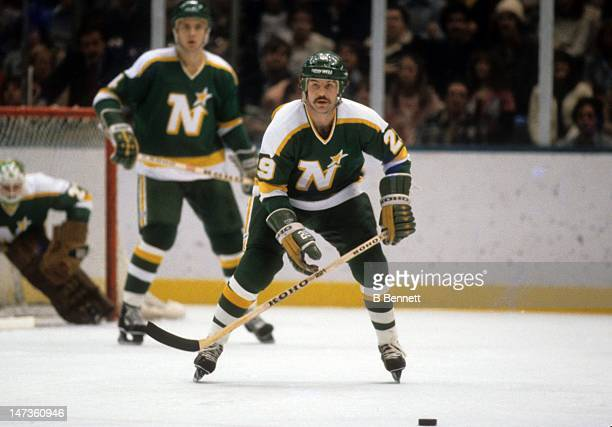 Tom Younghans of the Minnesota North Stars skates on the ice during an NHL game against the New York Islanders on November 11, 1980 at the Nassau...