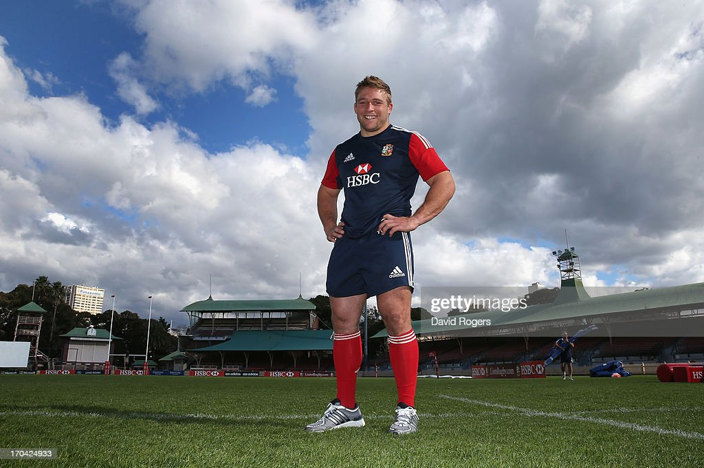 Tom Youngs, the Lions hooker poses after the British and Irish Lions training session at North Sydney Oval on June 13, 2013 in Sydney, Australia.
