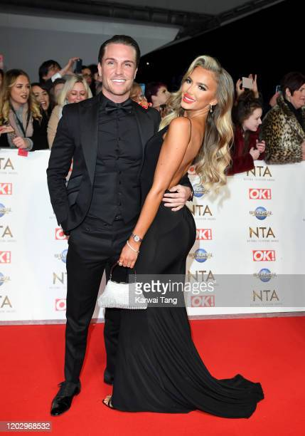 Tom Zanetti and Daisey O'Donnell attends the National Television Awards 2020 at The O2 Arena on January 28 2020 in London England