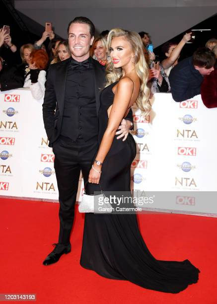 Tom Zanetti and Daisy O'Donnell attends the National Television Awards 2020 at The O2 Arena on January 28 2020 in London England