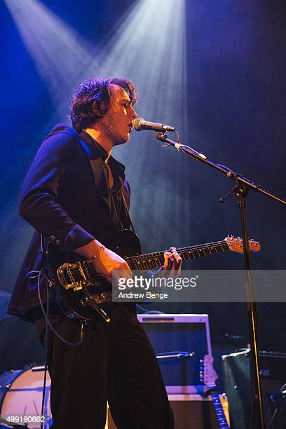 Toma Banjanin of Tempesst performs on stage at Islington Assembly Hall on November 25 2015 in London England