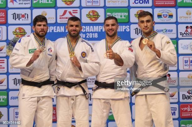 Toma Nikiforov of Belgium golden medal Cyrille Maret of France silver medal Peter Paltchik of Israel bronze medal and Zelym Kotsoiev of Azerbaijan...