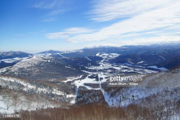 tomamu resort in winter, sapporo japan - kevin shum stock pictures, royalty-free photos & images