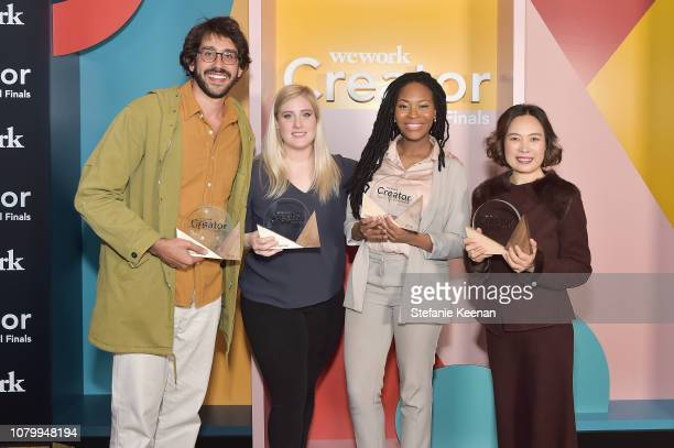 Tomas Abrahao Chloe Alpert Rachael Corson and Kate Wang attend WeWork Presents Second Annual Creator Global Finals at Microsoft Theater on January 9...