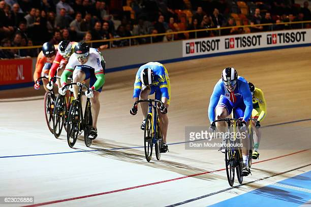 Tomas Babek of the Czech Republic competes and wins the gold medal in the Men's Keirin during the Tissot UCI Track Cycling World Cup 20162017 held at...