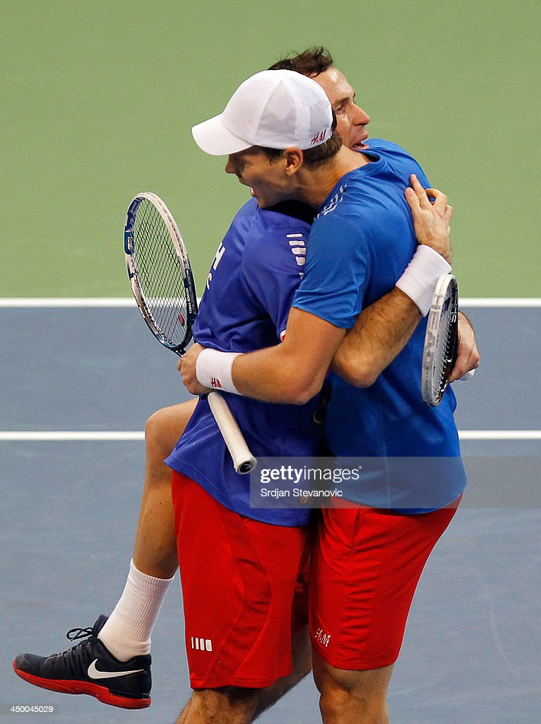 Serbia v Czech Republic - Davis Cup World Group Final: Day Two : News Photo