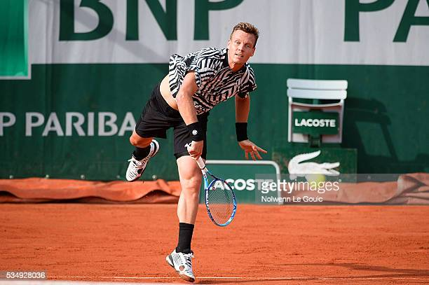 Tomas Berdych during the Men's Singles third round on day seven of the French Open 2016 on May 28 2016 in Paris France