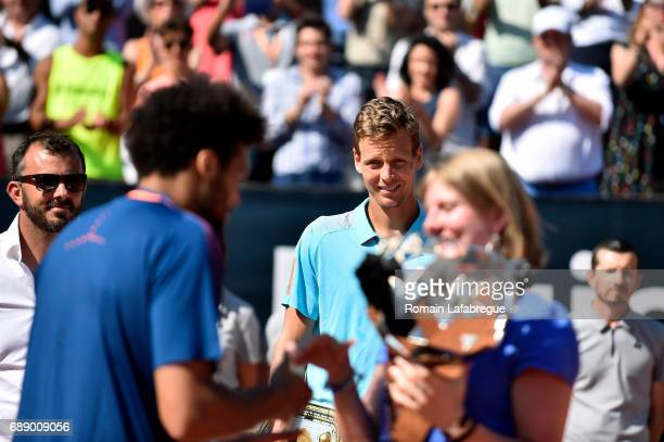 Tomas Berdych of Czech Republic during the Final of Open Parc of Lyon 2017 on May 27 2017 in Lyon France