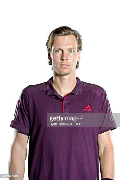 Tomas Berdych of Czech Republic poses for portraits during the Australian Open at Melbourne Park on January 12 2018 in Melbourne Australia
