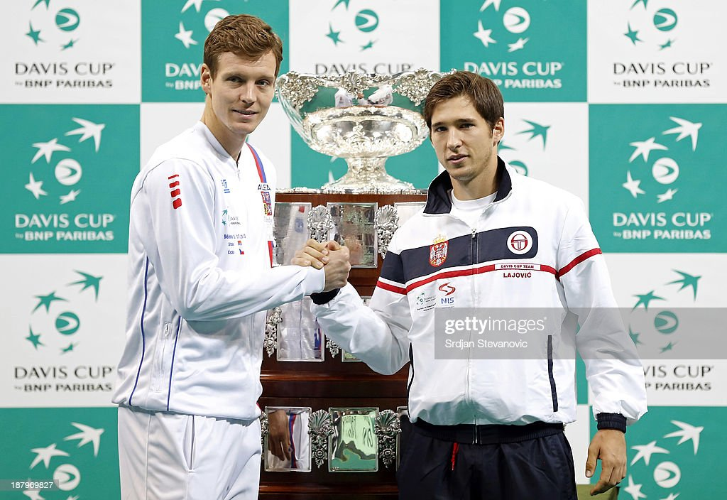 2013 Davis Cup final - Serbia v Czech Republic : News Photo