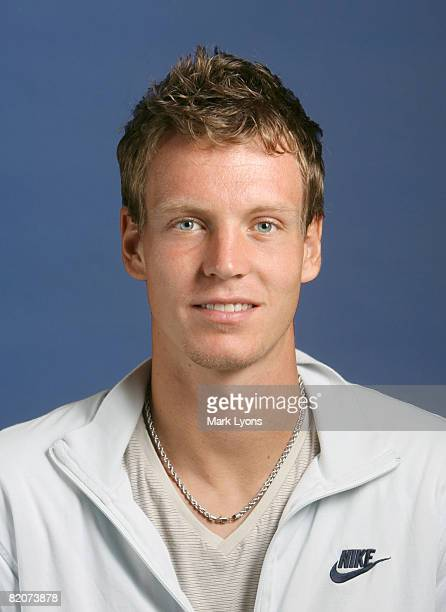 Tomas Berdych of Sweden poses for a headshot for the Western and Southern Masters at the Lindner Family Tennis Center July 26 2008 in Mason Ohio