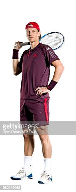Tomas Berdych of the Czech Republic poses for portraits during the Australian Open at Melbourne Park on January 11 2018 in Melbourne Australia