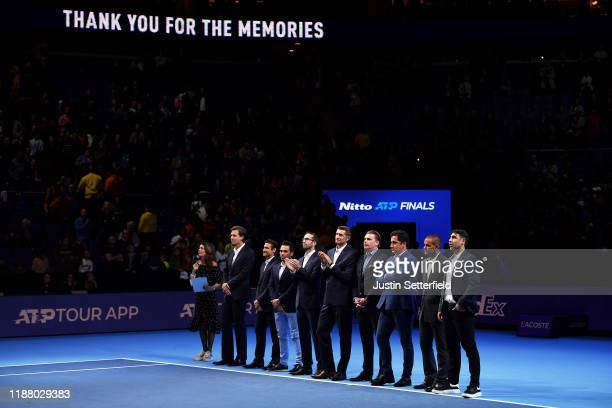 Tomas Berdych, Radek Stepanek, David Ferrer, Victor Estrella Burgos, Nicolas Almagro, Max Mirnyi, Marcin Matkowski, Mikhail Youzhny and Marcos...