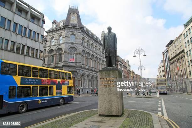 Tomas Daibis Thomas Davis statue on College Green Dublin city Ireland Republic of Ireland by Edward Delaney 1966