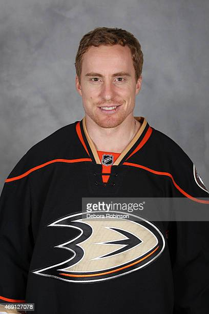 Tomas Fleischmann of the Anaheim Ducks poses for his official headshot for the 20142015 season on April 2 2015 at the Honda Center in Anaheim...