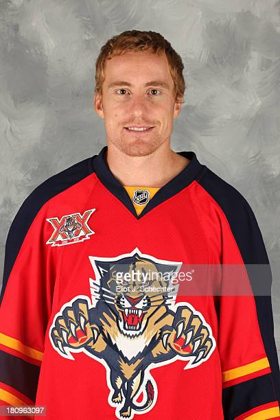 Tomas Fleischmann of the Florida Panthers poses for his official headshot for the 20132014 NHL season on September 11 2013 in Sunrise Florida