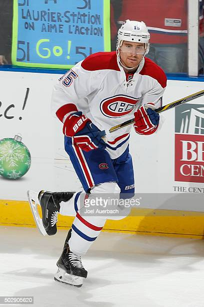 Tomas Fleischmann of the Montreal Canadiens skates prior to the game against the Florida Panthers at the BBT Center on December 29 2015 in Sunrise...