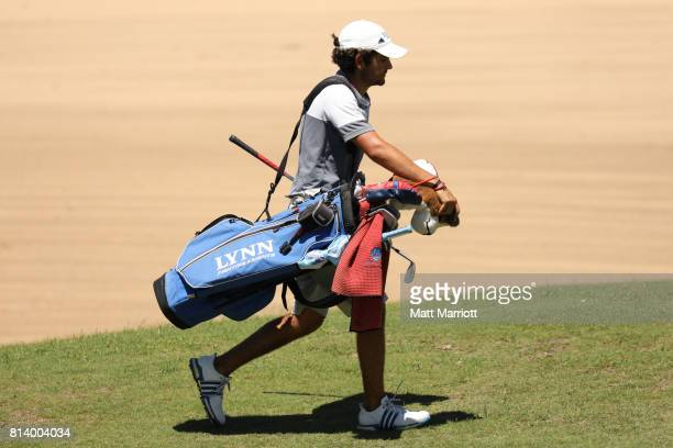 Tomas Gana of Lynn walks the 11th hole fairway the Division II Men's Golf Team Championship held at the Reunion Resort on May 26 2017 in Kissimmee...