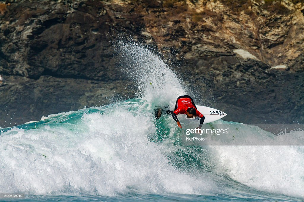 Tomas Hermes during Pantin Classic Galicia Pro 2016, Qualifying Series 6,000 of World Surf League (WSL) celebrated in the Pantin beach, A Coruña, Galicia, Spain on 30 August - 4 September, 2016.
