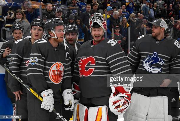Tomas Hertl of the San Jose Sharks Matthew Tkachuk of the Calgary Flames Connor McDavid of the Edmonton Oilers Mark Giordano of the Calgary Flames...