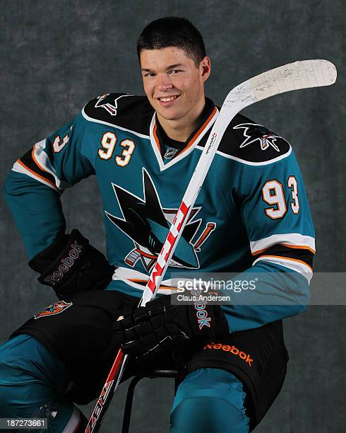 Tomas Hertl of the San Jose Sharks poses for an NHLPA The Players Collection portrait at the Mastercard Centre on August 27 2013 in Toronto Ontario...