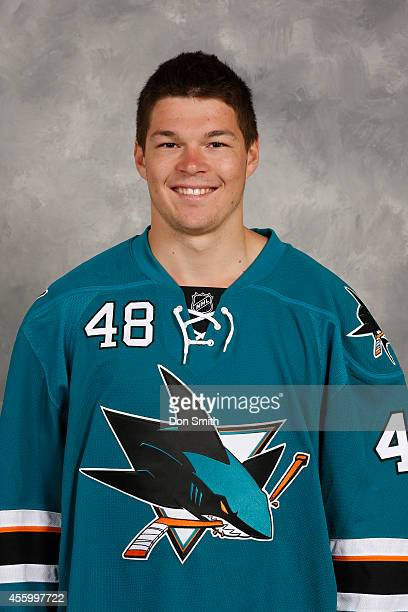 Tomas Hertl of the San Jose Sharks poses for his official headshot for the 201415 season on September 18 2014 at Sharks Ice in San Jose California