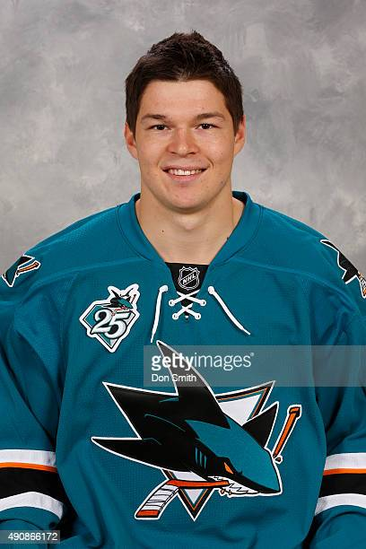 Tomas Hertl of the San Jose Sharks poses for his official headshot for the 201516 season on September 17 2015 at Sharks Ice in San Jose California